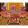 欧式实木餐桌 电动火锅桌实木转盘餐桌订制酒店饭店食堂桌椅批发