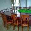 酒店会所餐馆豪华圆桌5.0米直径转盘桌子带音乐喷泉