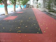 荔枝视频app色版新疆吐鲁番高散热彩色透水混泥土路面的施工流程