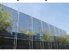 挡风抑尘墙的加工承包就找天维钢结构