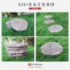 别墅花园园林公园原木片汀步石仿木人造文化石地面仿古砖石材