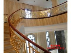 郁金香雕刻楼梯护栏系列 别墅铜艺楼梯扶手 铜艺护栏批发