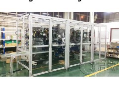 浙江铝型材安全围栏工厂车间隔断机器人安全防护栏启域设计