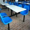 华鑫直销高质量玻璃钢餐桌椅规格可定制