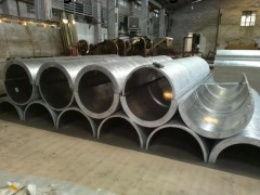 圆形包柱铝单板安装