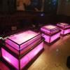 新式KTV酒吧不锈钢定制茶几发光酒吧台,工厂直销