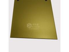 仿高比不銹鋼彩色板 真空電鍍噴砂黃鈦金 納米色油防指紋涂層