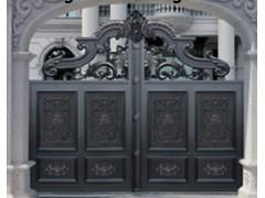 97精品国产自在现线拍铝合金仿真铜烤漆大门庭院铝合金大门铝艺防盗大门