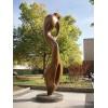 唐山 不銹鋼電鍍抽象雕塑 公園綠化仿銅擺件