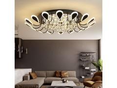 豐陌現代簡約水晶客廳吸頂燈大氣臥室溫馨浪漫書房餐廳燈創意