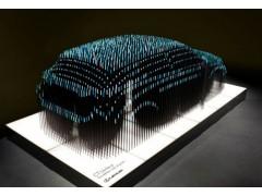 湘潭 金屬切片組合汽車雕塑 展示大廳跑車模型觀賞擺件