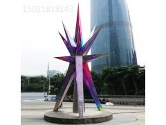 富二代精品视频app下载咸宁商业街三角拼接镂空雕塑 不锈钢抽象七彩景观摆件
