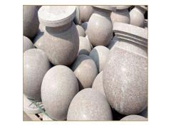 石球圆球路障挡车石墩子花岗岩石球挡车球