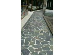 景观公园步道石_庐山青玉石材热销乱板_天然板岩文化石
