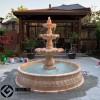 欧式水钵石雕别墅大理石喷泉石雕流水水景摆件
