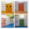 江承學校教室門卡通門彩色門烤漆門免漆門