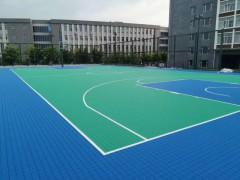 篮球场室外用的软连接悬浮拼装地板材料价