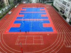 体育场800米标准塑胶跑道工程施工