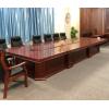 沈陽大型會議桌長桌辦公桌政府高密度板實木皮辦公桌組合桌子